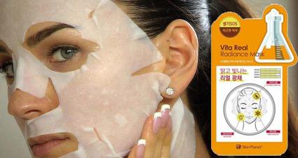 Омолаживаем кожу с помощью тканевой маски для лица!