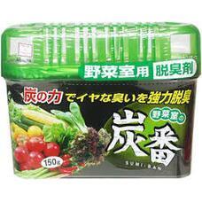 Дезодорант-поглотитель неприятных запахов с древесным углем, для холод.(овощная кам.) KOKUBO 150 г