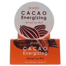 PETITFEE Cacao Energizing Hydrogel Eye Mask Тонизирующие патчи для глаз с какао 60 шт