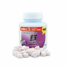 Orihiro Most Железо жевательные витамины со вкусом сливы № 180