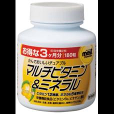 ORIHIRO Жевательные мультивитамины и минералы со вкусом манго № 180