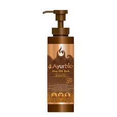 AYURBIO Heat Oil Bath Massage Oil Разогревающее массажное масло с антицеллюлитным эффектом