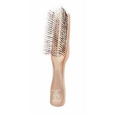 Расческа Scalp Brush 376 закругленных зубчиков цвет розовое золото