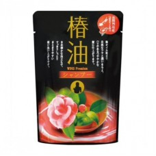 Увлажняющий кондиционер для волос Wins Premium с маслом камелии и цветочным ароматом сменная упаковка 400 мл.