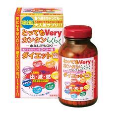 Japan Gals Very Easy Diet Бад для легкого похудения с аминокислотами и экстрактом папайи № 480