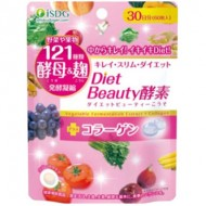 ISDG Diet Beauty Enzyme Диетический комплекс красоты с ферментами и коллагеном для усиления метаболизма, сжигания жира и омоложения организма № 60
