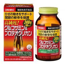 Orihiro High Purity Glucosamine & Proteoglycan Глюкозамин и Протеогликан высокой степени очистки № 240