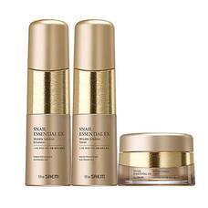 THE SAEM Snail Essential Набор кремов Snail Essential Ex Wrinkle Solution Skin Care 2Set 150мл*150мл*30мл