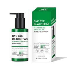 SOME BY MI 30DAYS Пенка-маска от черных точек BYE BYE BLACKHEAD 30 DAYS MIRACLE GREEN TEA TOX BUBBLE CLEANSER 120g