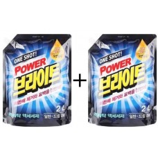 MUKUNGHWA Power Bright Набор средств для стрики One Shot! Power Bright Liquid Detergent (Refill) 2L+2L