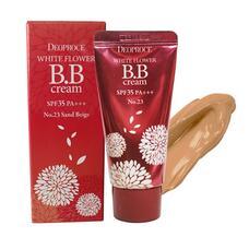 DEOPROCE CREAM Крем для лица ББ 23 тон DEOPROCE WHITE FLOWER BB CREAM SPF35 PA+++ 23 30гр