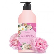 DEOPROCE BODY Гель для душа DEOPROCE MILKY RELAXING BODY WASH COTTON ROSE 750 g