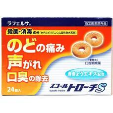 Антисептические таблетки от боли в горле и потери голоса Skoltroche S № 24