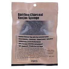 PURITO Спонж косметический PURITO Bamboo Charcoal Konjac Sponge 20гр