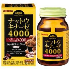 Orihiro Натто Киназа 4000 с Омега-3 (DHA, EPA, DPA), рутином и витамином Р № 60
