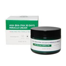 Крем с AHA/BHA/PHA кислотами для проблемной кожи SOME BY MI AHA-BHA-PHA 30 Days Miracle Cream, 60г