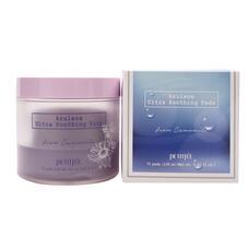 Успокаивающие очищающие подушечки для лица с азуленом PETITFEE Azulene Ultra Soothing Pads, 70шт
