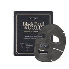 Гидрогелевая маска для лица с черным жемчугом и золотом PETITFEE Black Pearl & Gold Hydrogel Mask Pack, 32г