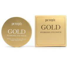 Гидрогелевые патчи для области вокруг глаз с золотом PETITFEE Gold Hydrogel Eye Patch, 60 шт