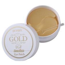 Гидрогелевые патчи для области вокруг глаз с золотом и EGF PETITFEE Gold & EGF Premium Hydrogel Eye Patch, 60 шт