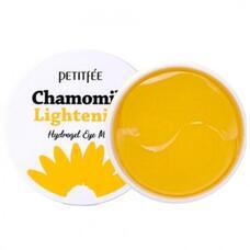 Гидрогелевые патчи для области вокруг глаз осветляющие PETITFEE Chamomile Lightening Hydrogel Eye Mask, 60 шт