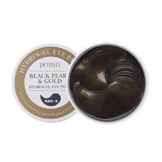 Гидрогелевые патчи для области вокруг глаз с пудрой черного жемчуга и золотом PETITFEE Black Pearl & Gold Hydrogel Eye Patch, 60 шт
