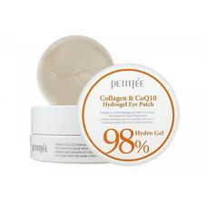 Гидрогелевые патчи для области вокруг глаз с коэнзимом Q10 и 98% содержанием коллагена PETITFEE 98% Collagen & CoQ10 Hydrogel Eye Patch, 60 шт