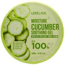 Увлажняющий успокаивающий гель с экстрактом огурца LEBELAGE Moisture Cucumber Purity 100% Soothing Gel, 300 мл