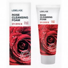 Пенка для умывания с экстрактом розы LEBELAGE Rose Cleansing Foam, 100 мл