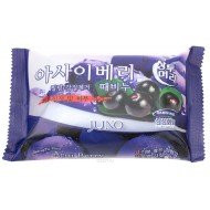 Мыло с отшелушивающим эффектом с черникой JUNO Blueberry Peeling Soap, 150г