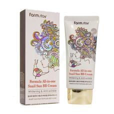 Многофункциональный ББ крем с муцином улитки FarmStay Formula All-In-One Snail Sun BB Cream SPF50+/PA+++, 50г