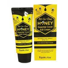 ВВ крем с экстрактом меда FarmStay All-In-One Honey Essential Cover B.B Cream SPF 30/PA++, 50г