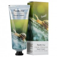 Крем для рук с муцином улитки FarmStay Visible Difference Hand Cream Snail, 100г