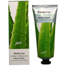 Крем для рук с экстрактом алоэ FarmStay Visible Difference Hand Cream Aloe, 100г