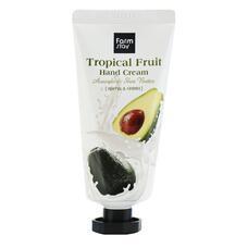 Крем для рук Тропические фрукты с авокадо и маслом ши FarmStay Tropical Fruit Hand Cream Avocado & Shea Butter, 50 мл
