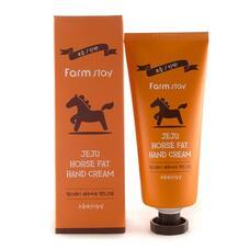 Крем для рук питательный с экстрактом конского жира FarmStay Jeju Horse Fat Hand Cream 100г