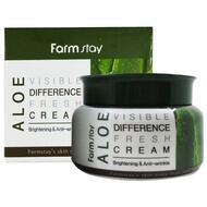 Крем для лица увлажняющий с экстрактом алоэ FarmStay Aloe Visible Difference Fresh Cream, 100г