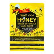 Тканевая маска для лица с экстрактом меда FarmStay Visible Difference Mask Sheet Honey, 23 мл