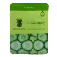 Тканевая маска для лица с экстрактом огурца FarmStay Visible Difference Mask Sheet Cucumber, 23 мл
