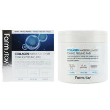 Отшелушивающие очищающие подушечки с коллагеном Farmstay Collagen Water Full Moist Toning Peeling Pad, 150 мл
