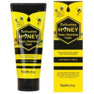 Пенка глубокого очищения с экстрактом меда FarmStay Refreshing Honey Deep Cleansing Foam, 180 мл
