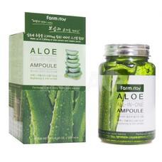 Многофункциональная ампульная сыворотка с экстрактом алоэ FarmStay Aloe All-In-One Ampoule, 250 мл