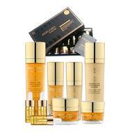 Набор средств по уходу за кожей для интенсивного восстановления BERGAMO Luxury Gold Set (9 pcs)