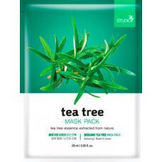 Тканевая маска для лица с экстрактом чайного дерева BERGAMO Tea Tree Mask Pack, 28 мл