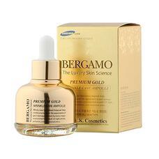 Ампульная сыворотка с золотом антивозрастная BERGAMO Premium Gold Wrinkle Care Ampoule, 30 мл