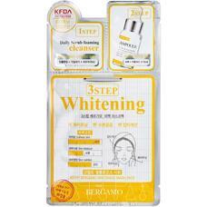 Трехэтапная маска для лица осветляющая BERGAMO 3Step Whitening Mask Pack