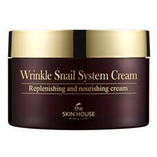 Антивозрастной крем на основе муцина улитки Wrinkle Snail System The Skin House Wrinkle Snail System Cream, 100 мл