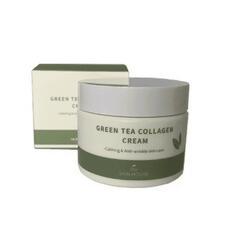 Успокаивающий крем на основе коллагена и экстракта зелёного чая The Skin House Green Tea Collagen Cream, 50 мл