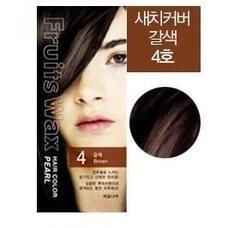 Краска для волос на фруктовой основе WELCOS Fruits Wax Pearl Hair Color #04 60мл*60гр