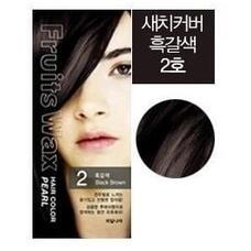 Краска для волос на фруктовой основе WELCOS Fruits Wax Pearl Hair Color #02 60мл*60гр